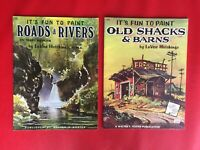 Vintage - It's Fun to Paint - Walter E Foster Pub. - Lot of 2