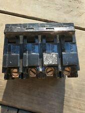Siemens Q22050Ct 50 Double Two 20amp Single Pole Circuit Breaker - Black