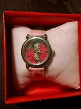 Betty Boop Battery Operated Watch, Holding Flowers, MINT in Original Box!