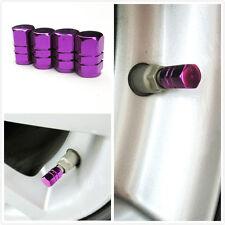 aluminum air valve cover cap purple for tire stem wheel rim all car universal