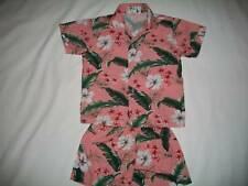 KY'S HAWAII FLORAL PRINT SHIRT & SHORTS SET SZ 3/4