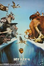 ICE AGE 4 CONTINENTAL DRIFT MOVIE POSTER FROM ASIA-CARTOON CAST SPLIT ON GLACIER