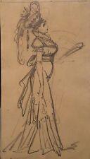 Alfred Grevin dessin Danseuse de Profil Arthur Meyer P 991