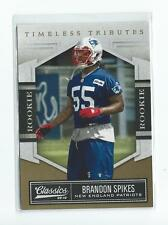 2010 Classics Timeless Tributes Gold #114 Brandon Spikes Rookie Patriots /50