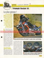 TRIUMPH 2300 Rocket 3 2005-2006 Joe Bar Team Fiche Moto #007607