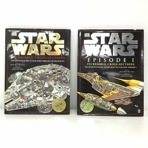 2 x Star Wars Incredible Cross-Sections w/ Episode 1, Hardcover #452