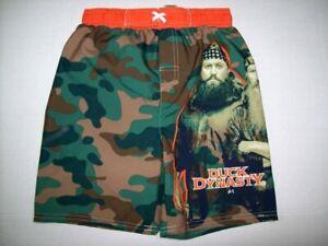 Duck Dynasty Licensed A&E Boys Swim Trunks w/ Pocket Camouflage, Rednecks XS S