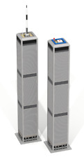 CUSTOM LEGO BUILDING Twin Towers: New York. Skyscraper  SIZE: 32,5 INCH HEIGHT!