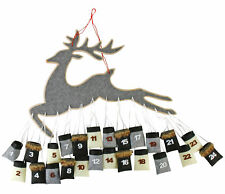 XXL Rentier Adventskalender 80x80 cm - 24 Säckchen zum befüllen - DIY Kalender