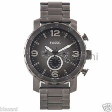 Fossil Original JR1437 Men's Nate Smoke Stainless Steel Watch 50mm