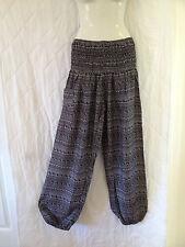 Ladies Harem Boho Pants Summer Free Size 8 10 12 14 Also Maternity BNIP [RG-BWS]
