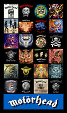 "MOTORHEAD album discography magnet (4.5"" x 3.5"")  RIP Lemmy."