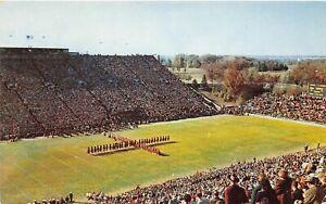 H68/ Iowa City Postcard Chrome Hawkeyes Football Stadium Marching Band 12