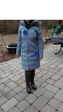 Columbia Women Winter Down Jacket Coat Parka L Large New Gray