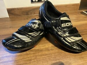Bont A-Three White Size 43 Used Full Carbon Sole road Racing Cycling Shoe