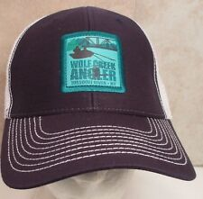 Wolf Creek Angler Snapback Hat Cap Trucker Missouri River Montana Fishing New #w