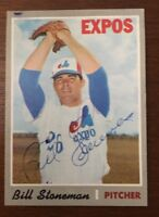 BILL STONEMAN 1970 TOPPS AUTOGRAPHED SIGNED AUTO BASEBALL CARD 398 EXPOS