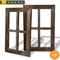 2 Hand Crafted Cade Old Rustic Window Barnwood Frames Decoration Home Outdoor