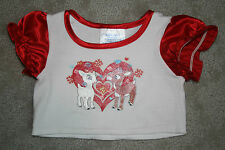 Build A Bear Rudolph the Red Nose Reindeer Clarice White Red T-Shirt