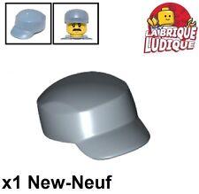 Lego - 1x Minifig headgear cap casquette worker paint bleu/sand blue 11258 NEUF
