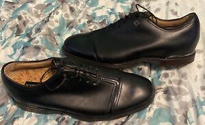 Mens Footjoy Icon Black Golf Shoes Sz 9m Htf Rare New Opti Flex Wood Sole