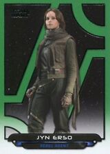 Star Wars Galactic Files Reborn Green Parallel Base Card RO-1 Jyn Erso