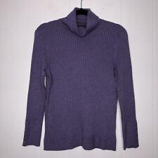 Talbots Women's Ribbed Turtleneck Sweater Purple Size PM NWT