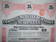 Compania Mexicana de Petroleo El Aguila SA, Mexican Eagle Oil,  1949 (25 Shares)