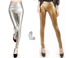 AU SELLER Sexy High Waist Metallic Colour Dance Rockabilly Leggings pants  P121