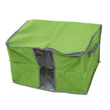 Green Quilt Blanket Pillow Under Bed Storage Bag Box Container Non-woven Fa U5K3