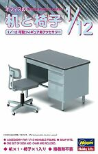 Hobby Kits 1/12 movable figures for accessories.Office desk & Chair JAPAN F/S