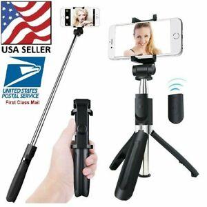 Bluetooth Selfie Stick Tripod & Mount Stand w Shutter & Extendable 360° Rotation