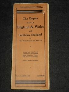The Duplex Map of England & Wales and Southern Scotland (c1920s) Bartholomew