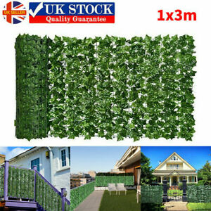 Artificial Faux Ivy Leaf Hedge Panels Roll Privacy Screening Decor Garden Fence*