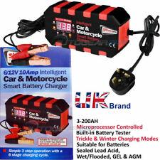 6V/12V 10amp SMART Trickle intelligente 40-200AH caricabatteria per auto tempo libero.IBC4
