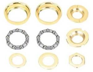 Bottom Bracket Set 1 Piece Crank 5/16x 9 24tpi Gold Lowrider Custom Bike 111416