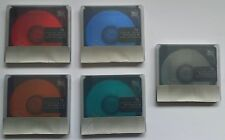 5 X MINIDISC SONY Color Collection Shock Absorbing NEW AND SEALED Made in Japan