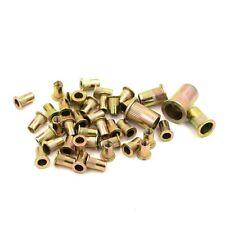 Metric Carbon Steel Flat Head Rivet Nut Knurled Rivnut M3 M4 M5 M6 M8 M10 M12