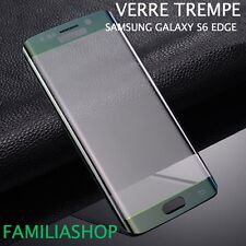 Tempered Glass Film Integral Total Curved Samsung Galaxy S6 Edge Green