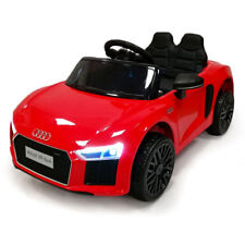Auto Macchina Elettrica Audi R8 Spyder Bianca 12V Per Bambini Rosso Originale