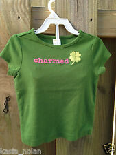 Gymboree Lucky Cham Girls 3 3T Saint Patrick's Day Shamrock Top Tee Shirt Green