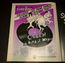 Queen A Kind of Magic Party Freddie Mercury Original Print Advertisement Poster