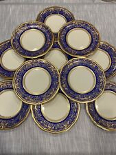 11 Antique Rosenthal Ivory Germany Blue With Gold Dinner Plates- Exellent Cond.