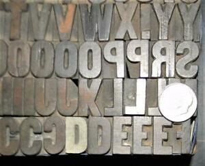 "Alphabets WOOD Letterpress Type Hamilton  4line  5/8""  Gothic Bold   MW20  2#"