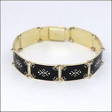 Norwegian Art Deco Silver Enamel Bracelet - BERNARD MELDAHL