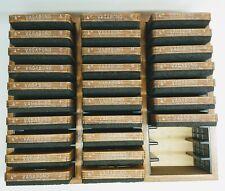 """Accu Cut Ellison Die Vagabond Uppercase Letter Complete Alphabet 4"""" Lot 27 Case"""