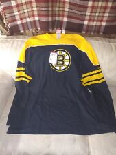 Reebok Face Off NHL 2XL Men Boston Bruins Long Sleeve Shirt 100% Cotton...