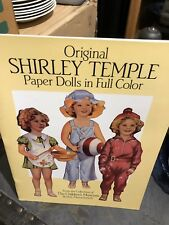 Paper Dolls - Uncut - Original Shirley Temple In Color