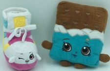 Shopkins Plush Lot  of 2 Cheeky Chocolate Brown Blue, Sneaky Wedge Shoe Sneaker