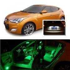For Hyundai Veloster 2011+ Green LED Interior Kit +Xenon White License Light LED